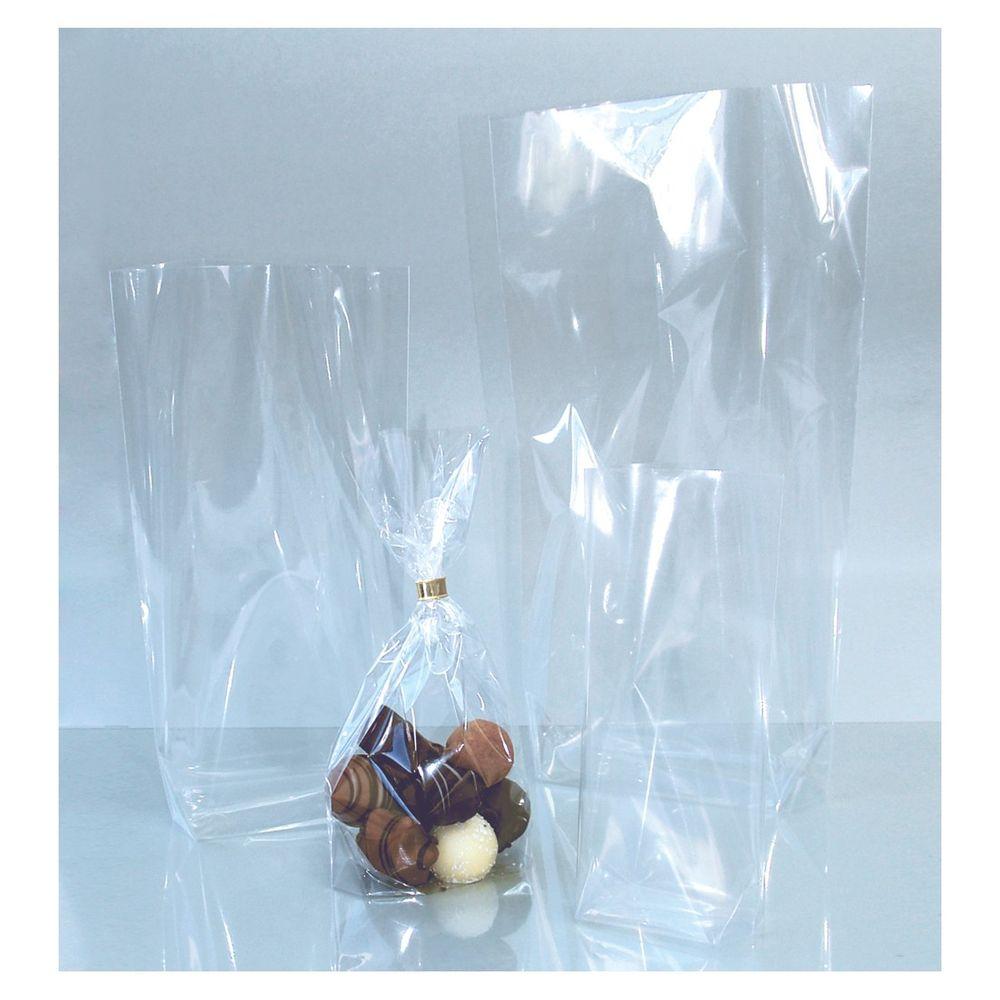 Folia Bodenbeutel unbedruckt, 145x235mm, transparent (10er Pack)