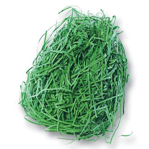 folia 603055 Dekogras aus Papier, Ostergras, 30g, grün (1 Teile), grün (30 g)
