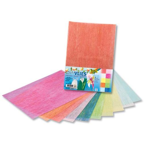 Folia Deko-Vlies, 23 x 33 cm, 10 Farben, mehrfarbig, 10-teilig (1 Set)