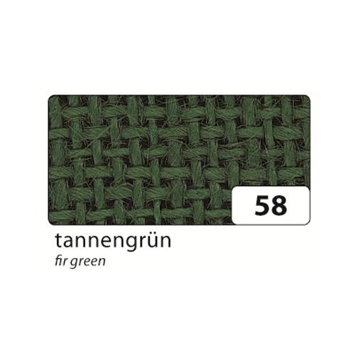 Jutegewebe 1x1,25 - 1,30m, gefaltet auf 25x35cm, tannengrün