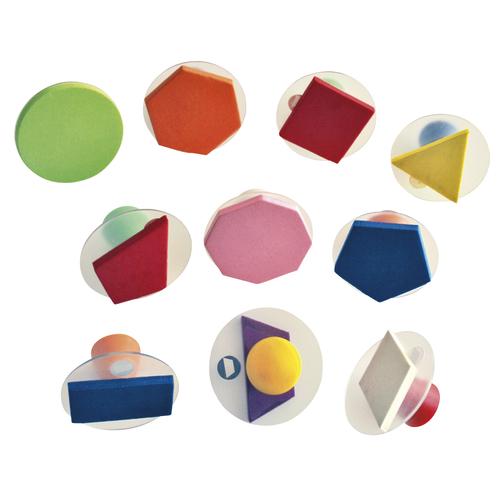EDUPLAY 220-032 Riesenstempel Geo, mehrfarbig, 10-teilig (1 Set)