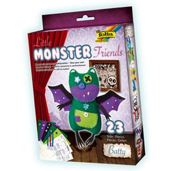 Folia 50103 Little Monster Friends Batty, mehrfarbig, 23-teilig (1 Set) – Bild 1