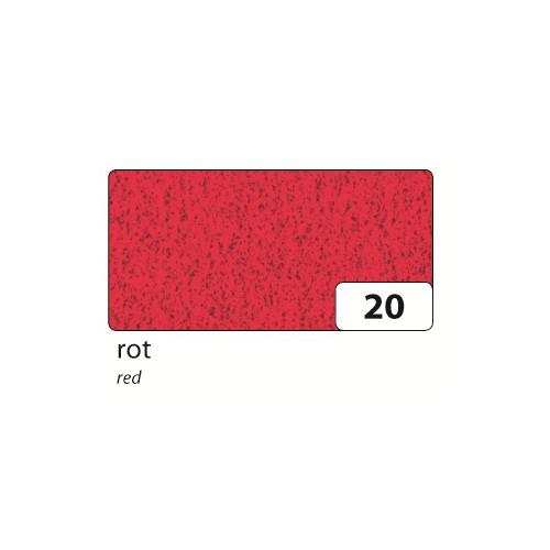 folia 541020 Bastel-Velour Folielle 130 g/m², 50x70cm, rot, rot (10 Bogen)
