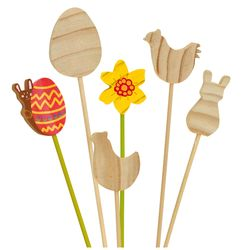 EDUPLAY Blumenstecker Ostern, natur, 12-teilig (1 Set)