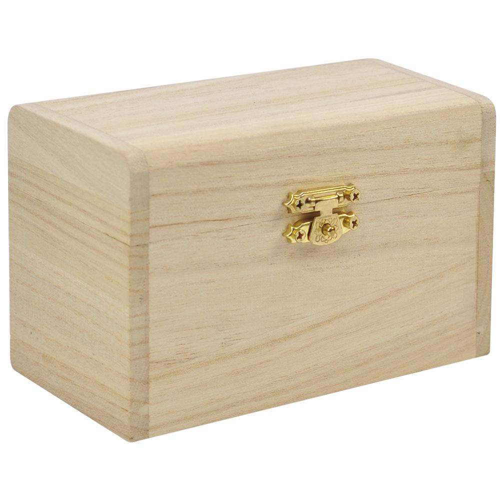 EDUPLAY 210117 Schatzkästchen / Schatzkiste aus Holz zum bemalen, natur (1 Stück)