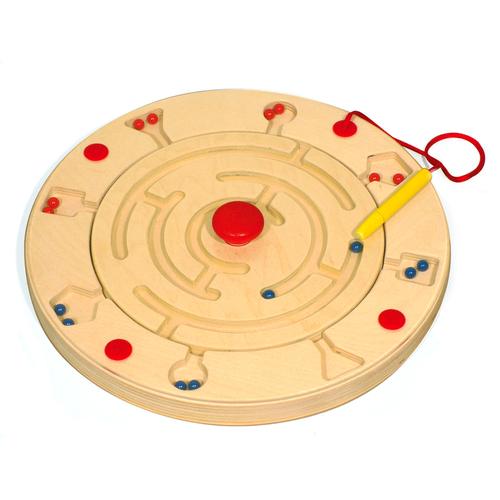 EDUPLAY Magnetspiel Roulette rund mit 6 Vorlagen (1 Stück)