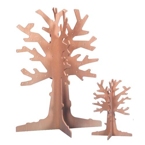 Jahresthemen Laubbaum aus Birkenholz, groß 110cm