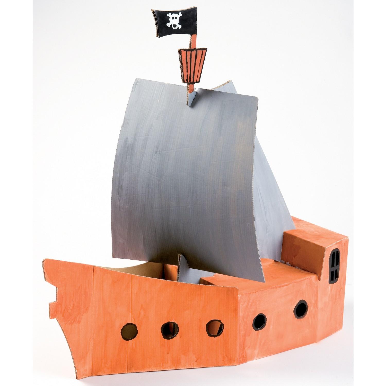 joypac white line karton piratenschiff zum aufbauen und. Black Bedroom Furniture Sets. Home Design Ideas