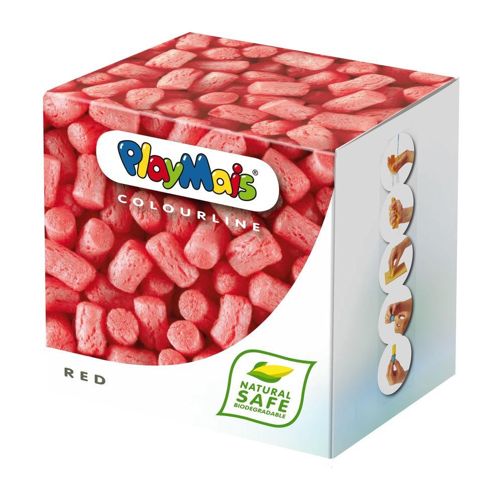 """PlayMais 160033 """"COLOURLINE"""" Modelliermais mehr als 150 Teile, rot (1 Stück)"""