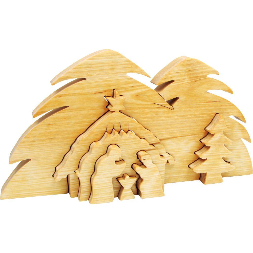 3D-Krippe Bethlehem aus Holz