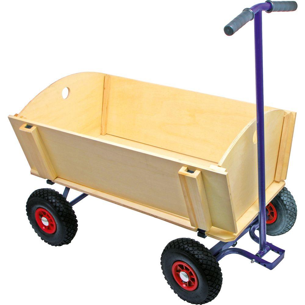 small foot 6911 bollerwagen aus holz extragro natur 1 st ck spielzeug outdoor sport. Black Bedroom Furniture Sets. Home Design Ideas