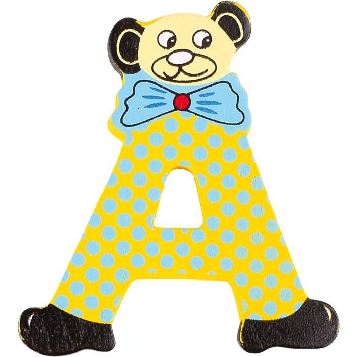 Small Foot 7301 Bären-ABC aus Holz, Buchstabe A, bunt (1 Stück)