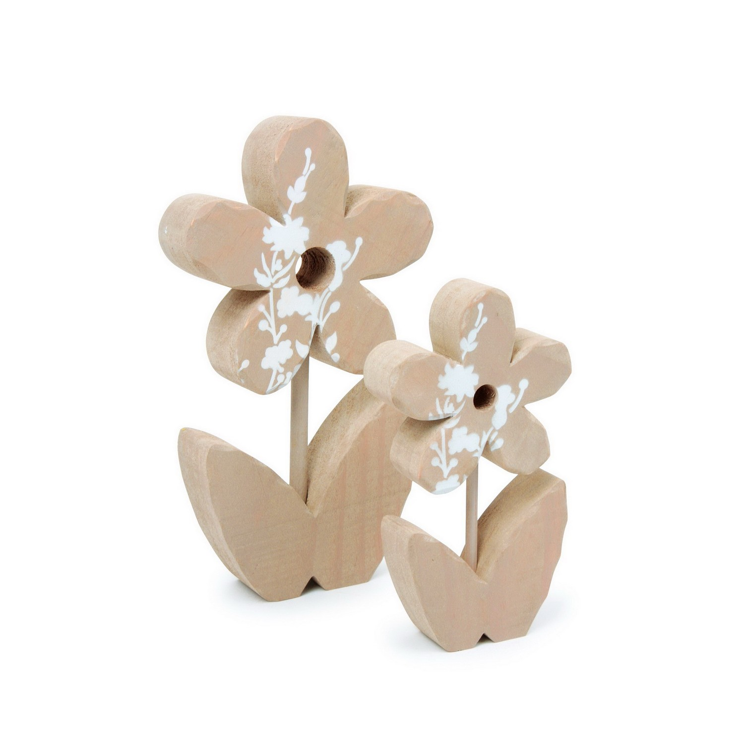 Small foot 5678 set deko blumen aus holz natur 2 teilig for Dekoration blumen