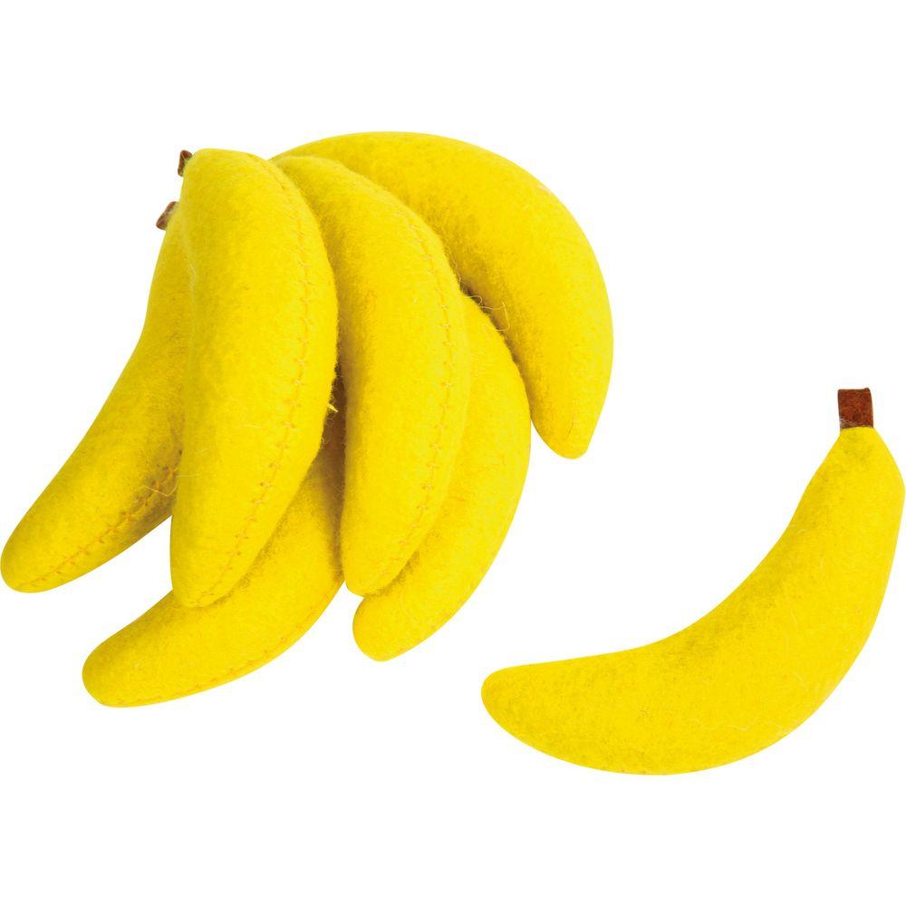 Small Foot Design 4419 Filz-Bananen, Ø 2 cm x 7,5 cm, für Kaufläden, gelb, 7-teilig (1 Set)