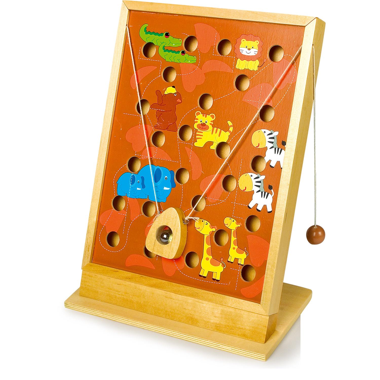 1 Set mehrfarbig Small Foot 2423 Puzzle ABC Schildkröte aus Holz