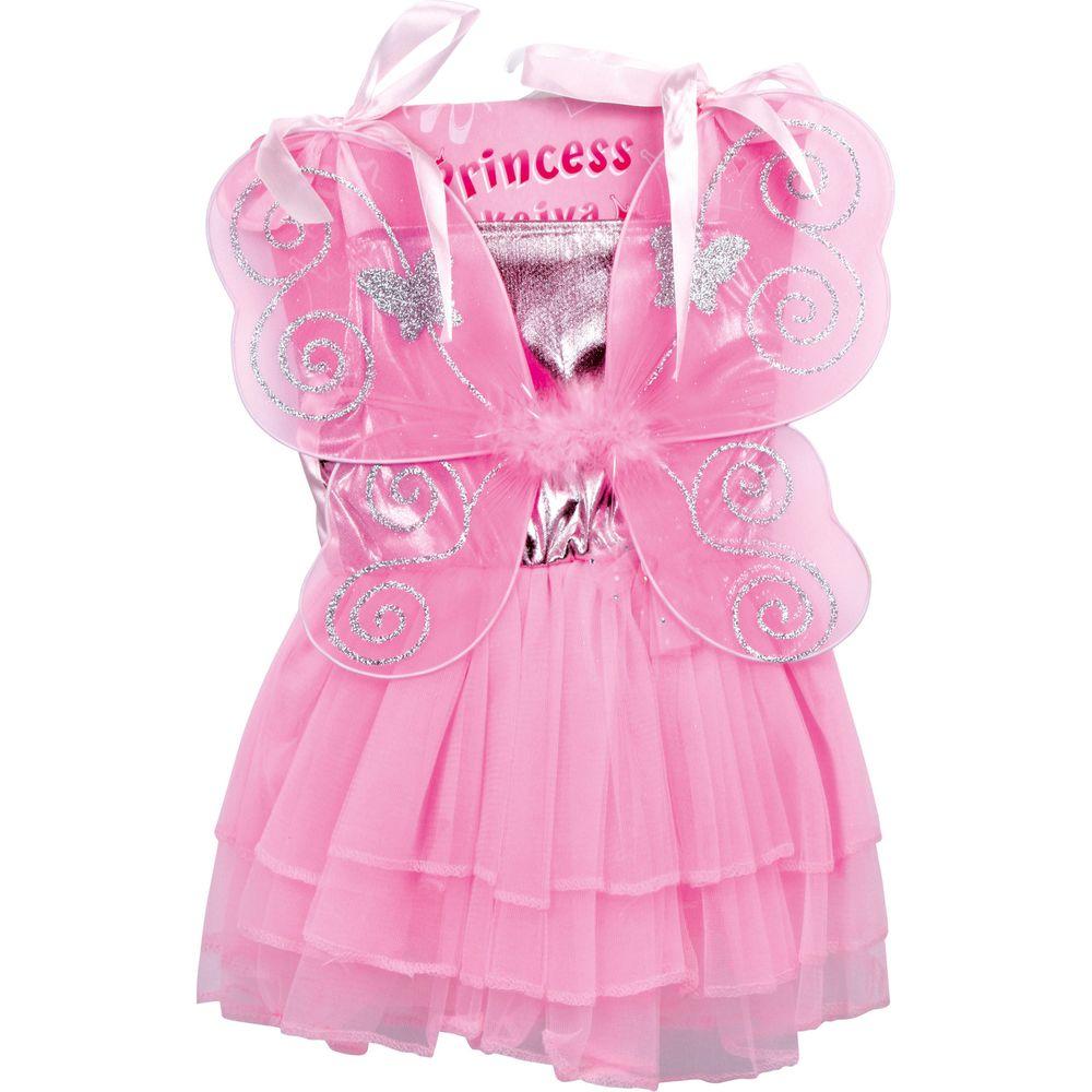Small Foot 5770 Kinder Feen-Kostüm Celia, mit glitzernden Flügeln, rosa (1 Stück)