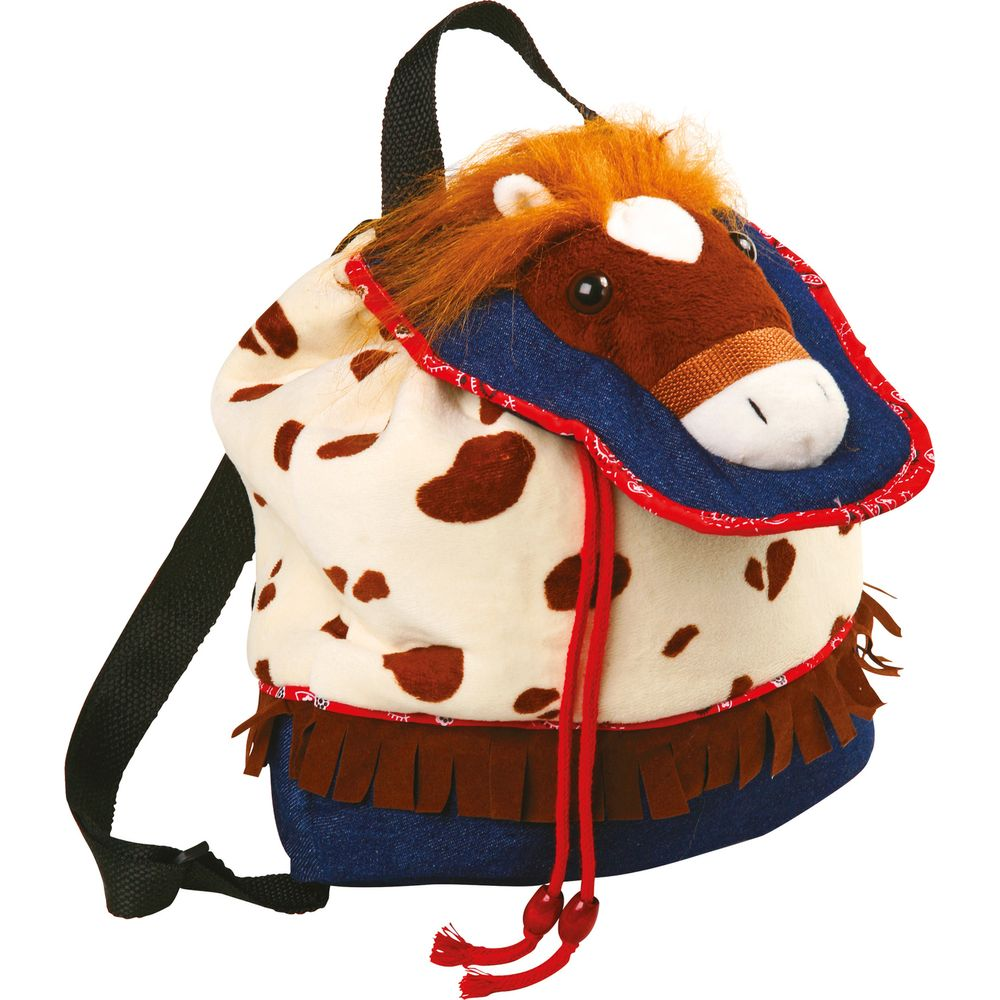 Small Foot 4130 Rucksack Pony aus 100% Polyester, Mustang-Jeans-Design (1 Stück)