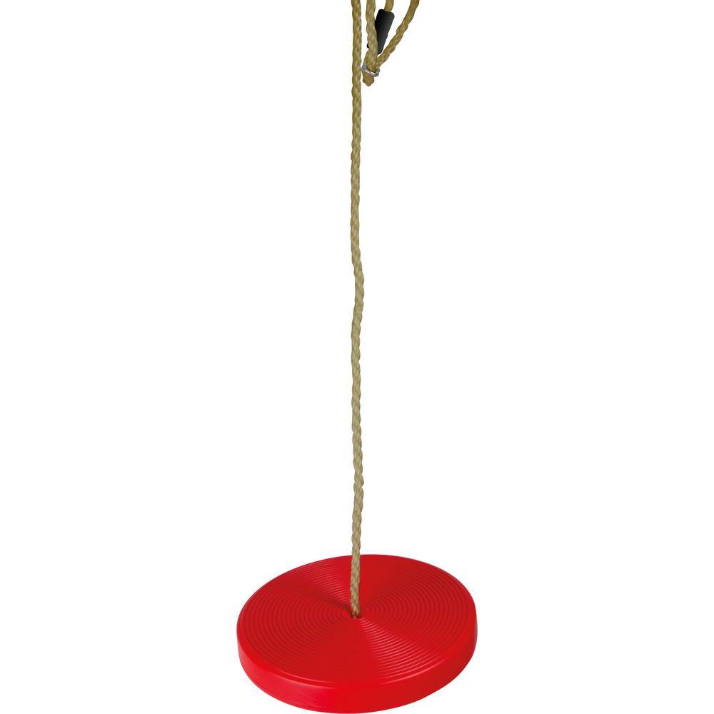 Tellerschaukel aus Kunststoff, rot, mit Seil