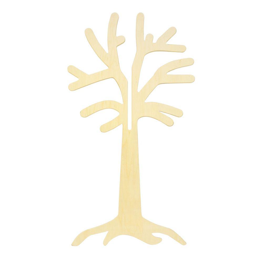Jahresthemen Laubbaum aus Birkenholz, 110cm