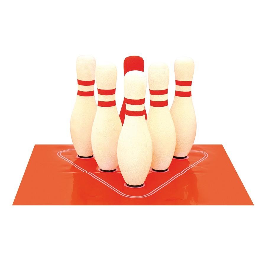 EDUPLAY 170-194 Kiga Soft Bowling, 6 Kegel & 2 Kugeln, mit Tragetasche, mehrfarbig, 9-teilig (1 Set)
