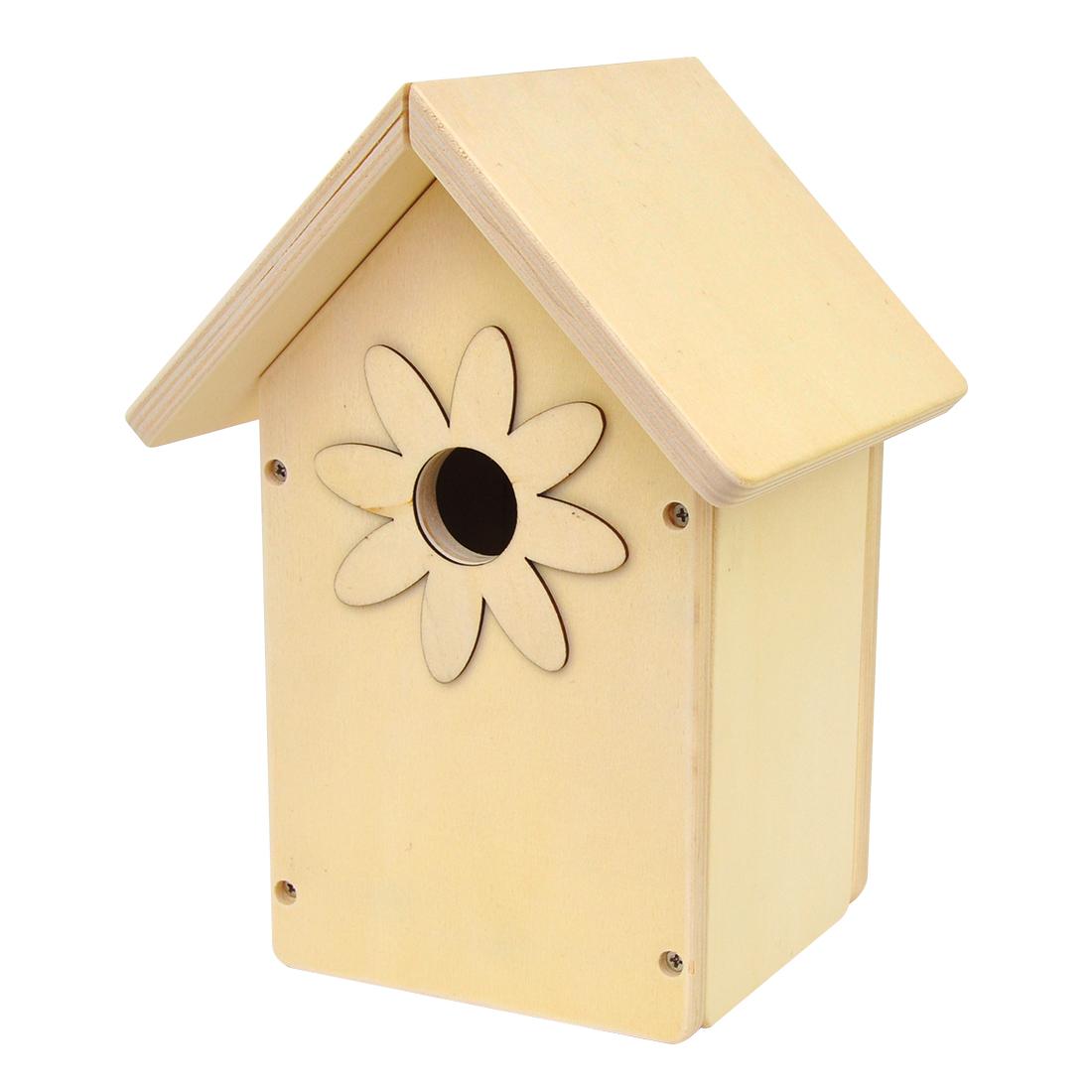 EDUPLAY 210-164 Vogelhaus Blume aus Holz, natur (1 Stück) Büro & Bastelbedarf Malen & Zeichnen ...