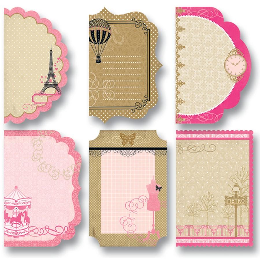 Designpapier Cutties Paris, 18 Stück, 6 Designs | mariposa toys