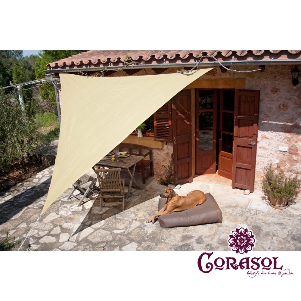 corasol premium sonnensegel dreieck 90 quadrat rechteck garten sonnendach. Black Bedroom Furniture Sets. Home Design Ideas