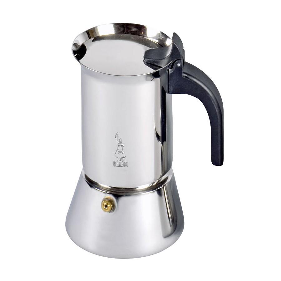 """Bialetti 0001682/NW Bialetti """"Venus 4"""" Espressokocher aus Edelstahl, induktionsgeeignet, bis zu 4 Tassen, silber (1 Stück)"""