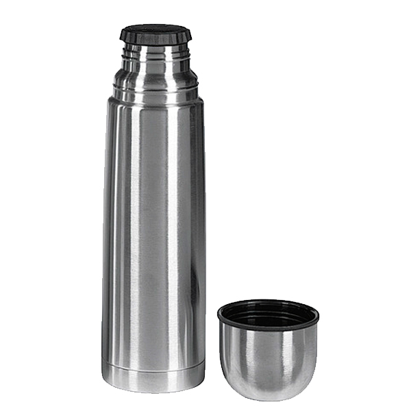 isolierflasche thermoskanne mit drehverschluss metalleinsatz edelstahl 500ml ebay. Black Bedroom Furniture Sets. Home Design Ideas