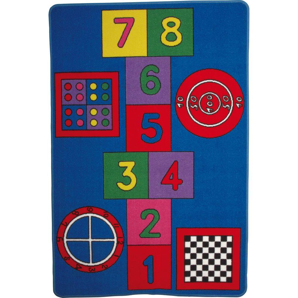 Small Foot 8978 Spielteppich Hopscotch für verschiedene Spiele, mehrfarbig (1 Stück)
