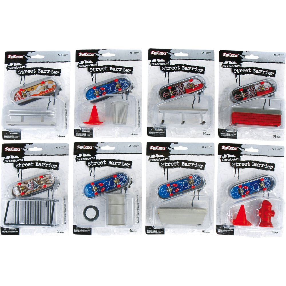 Small Foot 8355 Finger-Skateboards A mit Barriere, mehrfarbig, 8-teilig (1 Set)