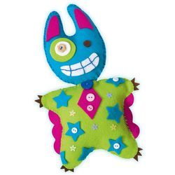 Folia Little Monster Friends Batty Loonymoo Gary Specter Scraggles, mehrfarbig, 5-teilig (1 Set) – Bild 3