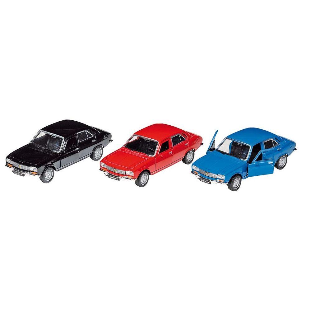 goki 12179 Peugeot 504, Spritzguß, 1:34-39, L=12 cm, Rückzugmotor (Farbe zufällig, 1 Stück)