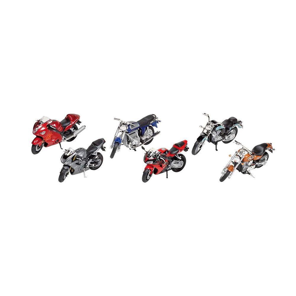 goki 12183 Motorrad, Spritzguß, 1:18, L= 11-12cm, Freilauf, natur (Modell zufällig, 1 Stück)