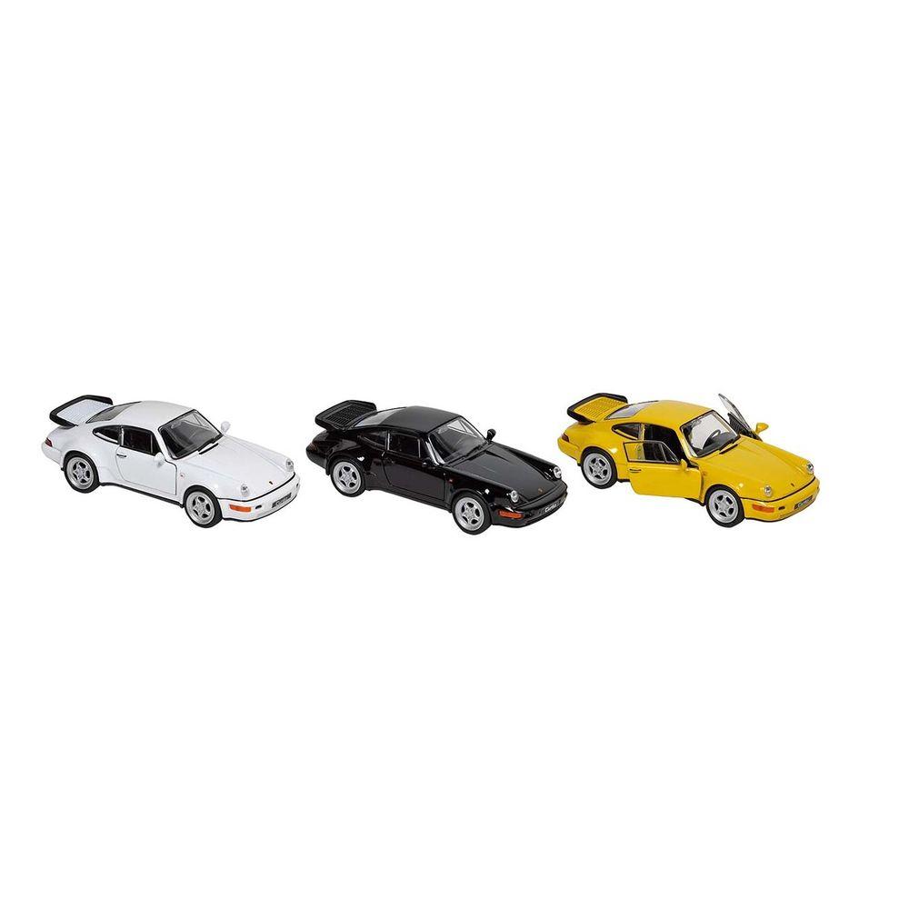 goki 12185 Porsche 964 Turbo, Spritzguß, 1:37, L= 11,5 cm, Rückzugmotor (Farbe zufällig, 1 Stück)