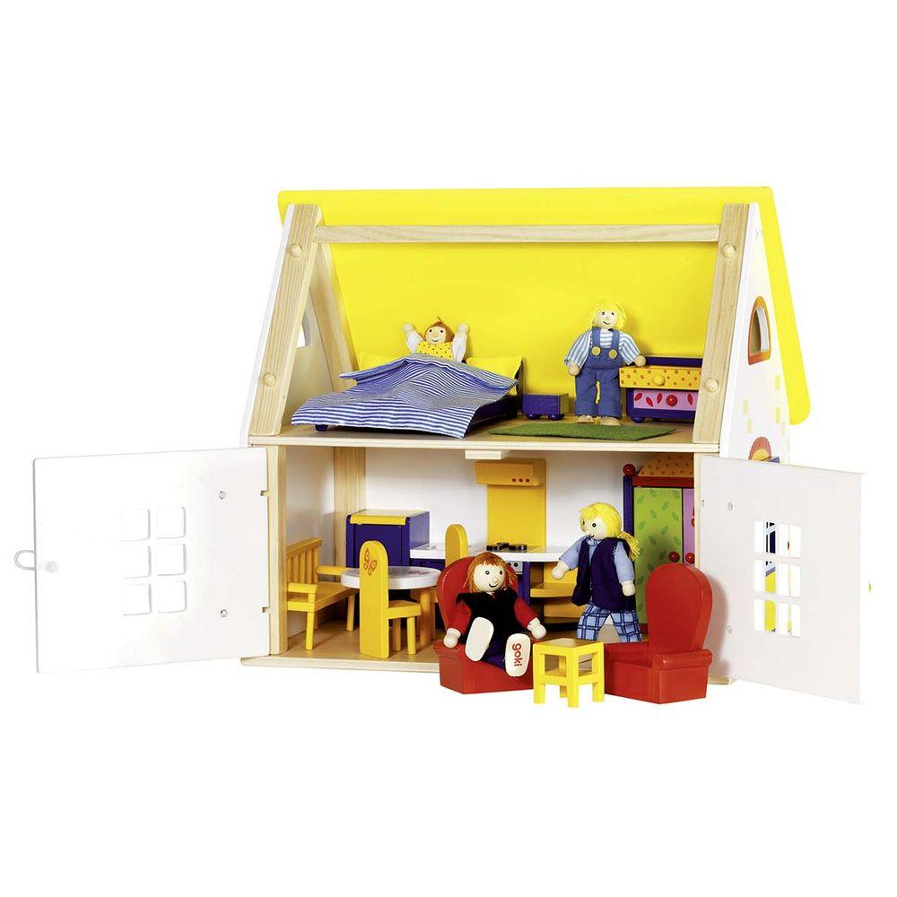 Puppenhaus Cottage mit Zubehör