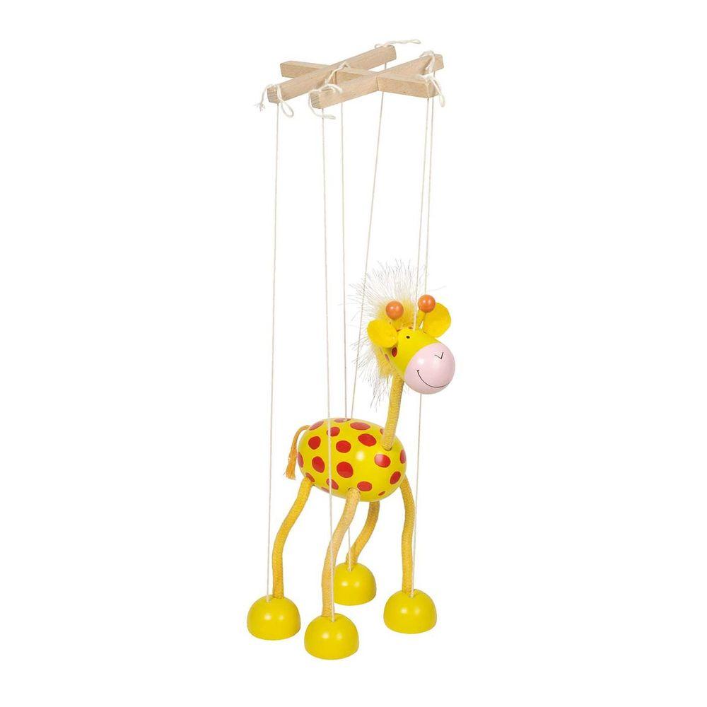 goki 51867 Marionette Giraffe, gelb (1 Stück)