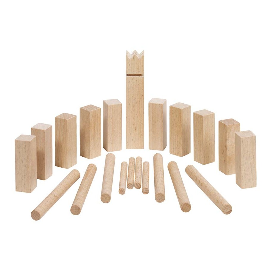 Wikingerspiel Mini-KUBB, mit Baumwollbeutel