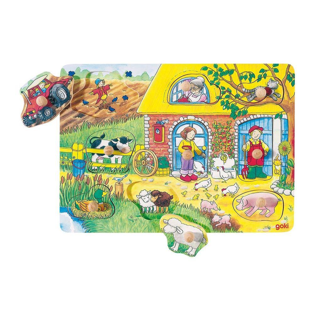 Hintergrundbildpuzzle Bauernhof
