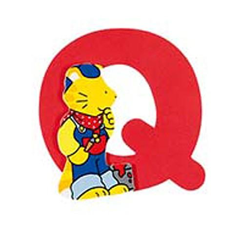Buchstabe Q, H= 8,5 cm, Holz