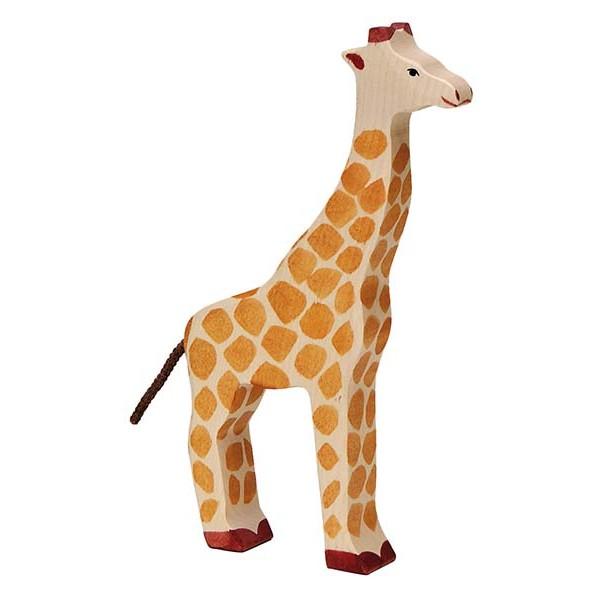 Holztiger 80154 Giraffe, orange (1 Stück)