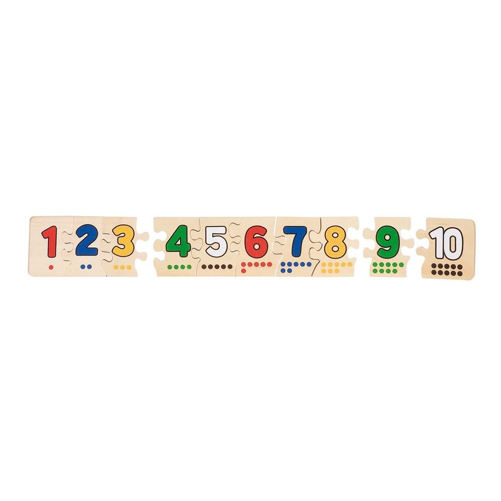 Puzzle Zahlen 1-10