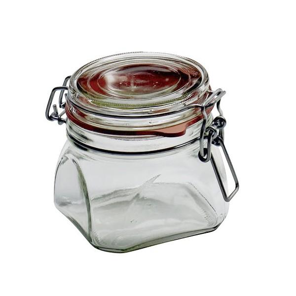 Dosen-Zentrale Einmachglas mit Drahtbügel, quadratisch, 550 ml ...