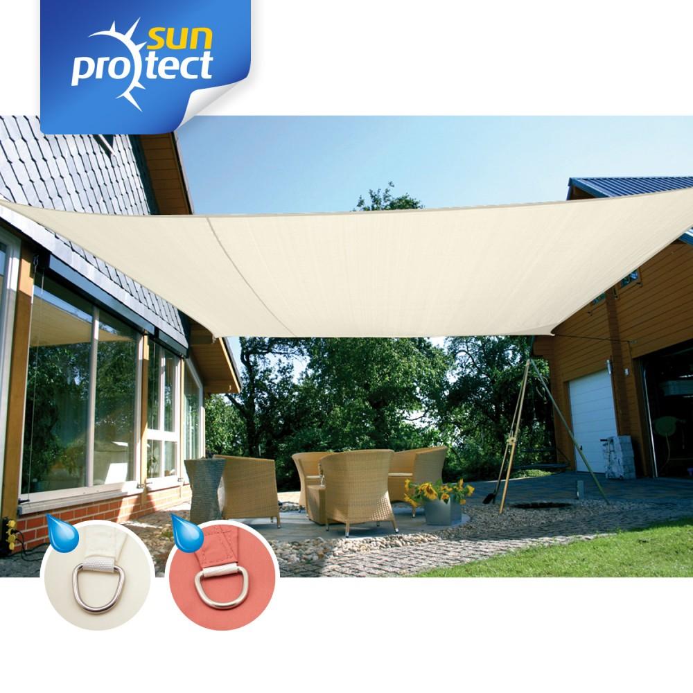 sunprotect sonnensegel viereck quadrat rechteck sonnenschutz wasserabweisend ebay. Black Bedroom Furniture Sets. Home Design Ideas