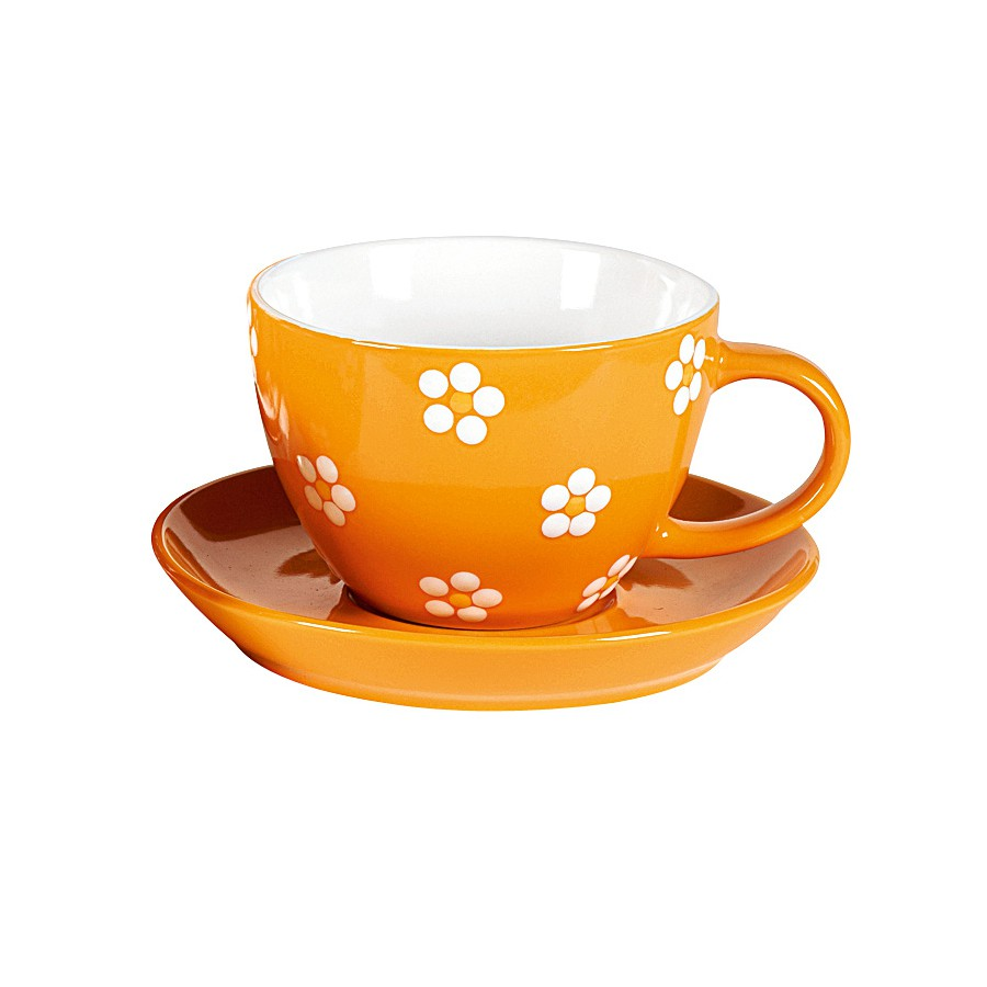 fancy flowers kaffeebecher 270ml porzellan orange 1 st ck von bon box g nstig bei yovivo. Black Bedroom Furniture Sets. Home Design Ideas
