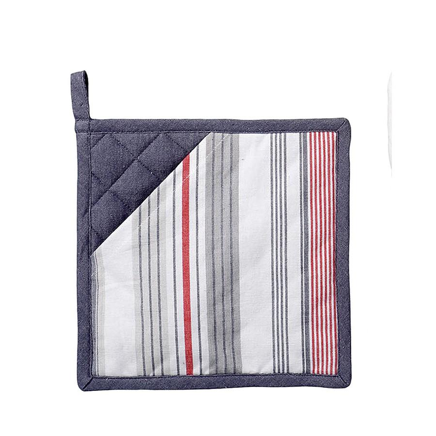"my choice Topflappen ""Subtle Stripe"", gestreift, grau & rot, 20"