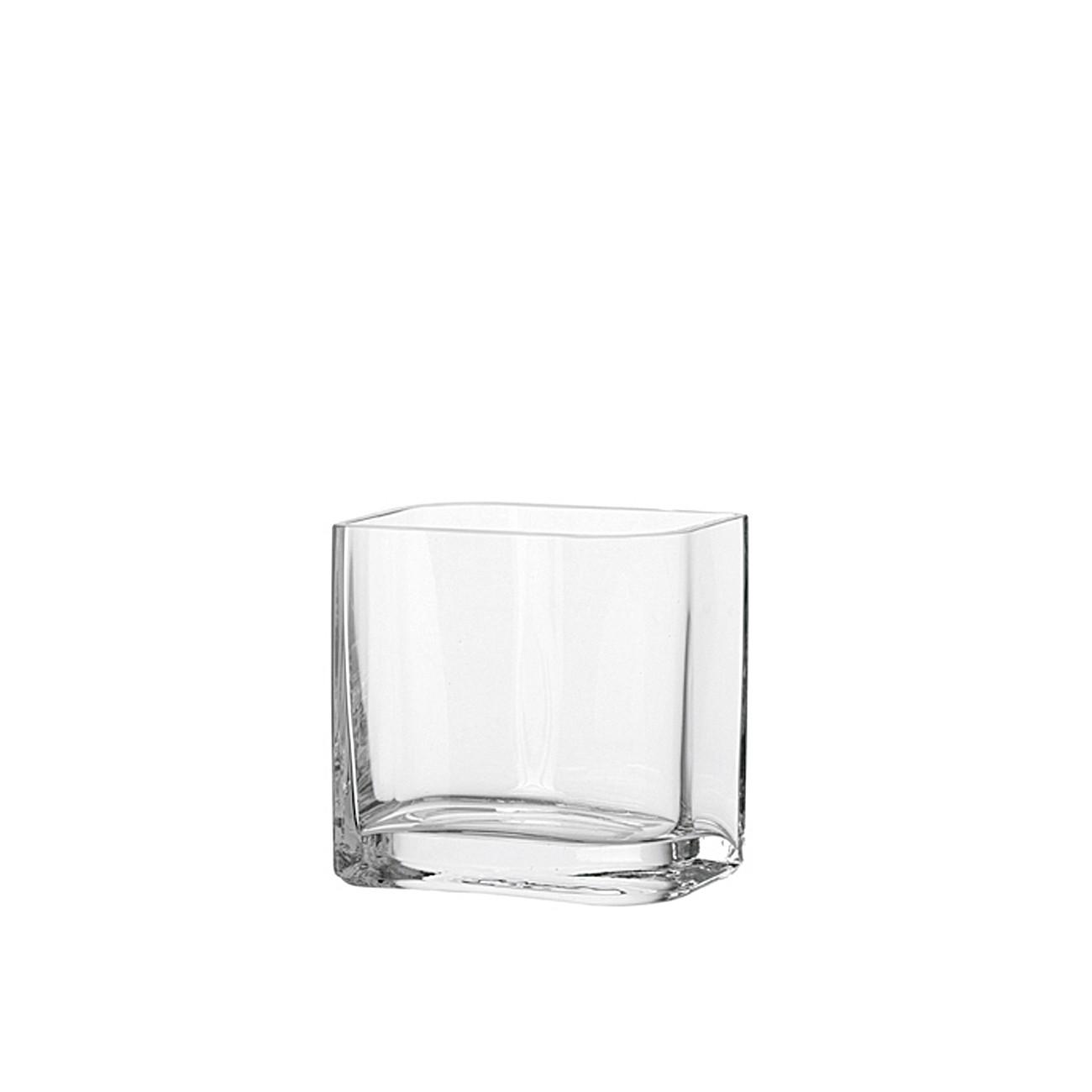 leonardo vase lucca aus glas eckig klar 15 x 15 x 10 5 cm. Black Bedroom Furniture Sets. Home Design Ideas