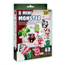 "Folia 50106 ""Mini Monster Friends"" Bastel-Set für 8 Monster, bunt, 63-teilig (1 Set) – Bild 1"