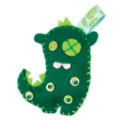 "Folia 50106 ""Mini Monster Friends"" Bastel-Set für 8 Monster, bunt, 63-teilig (1 Set) – Bild 3"