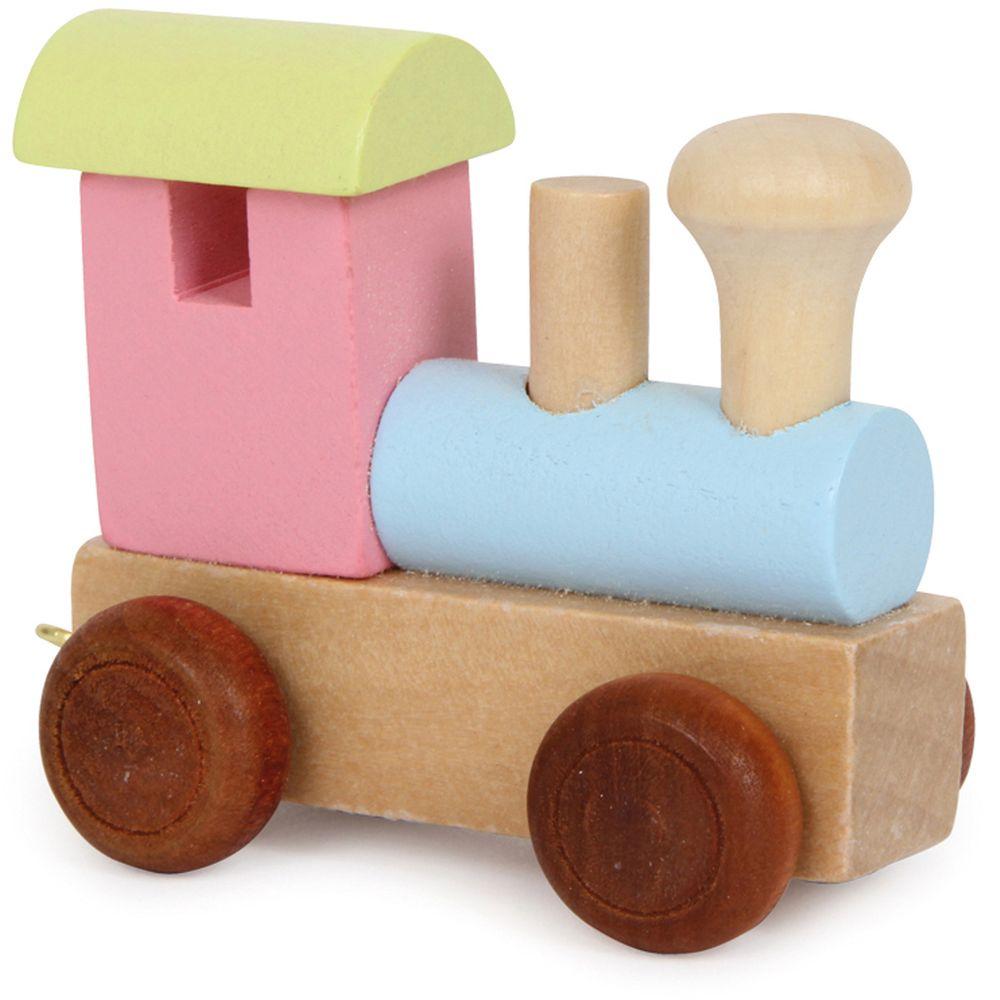 Small Foot Design Buchstabenzug aus Holz, Lokomotive, mehrfarbig (1 Stück)